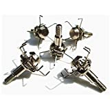 MS Jumpper Hunting Broadheads, 100 Grain Screw Arrowheads for Archery Bow Arrows and Crossbow Bolts (6 Pack)