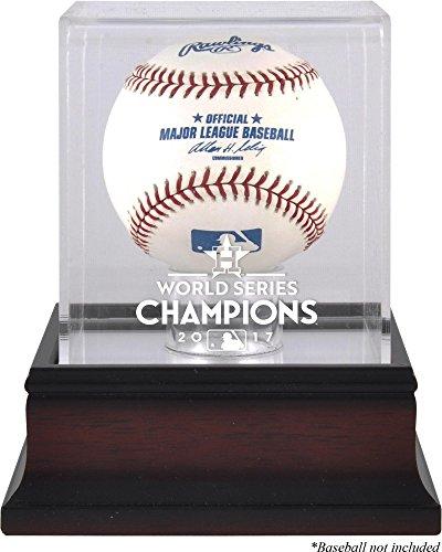 Houston Astros 2017 MLB World Series Champions Mahogany Logo Baseball Display Case - Fanatics Authentic Certified (Houston Display Cases)