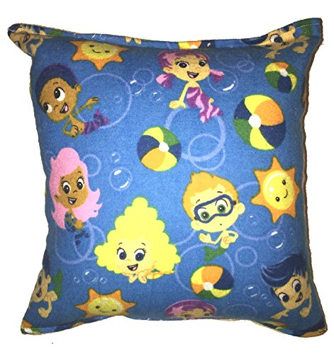 "Bubble Guppies Pillow Guppy Pillow Flannel Style Pillow HANDMADE in USA NEW Pillow is approximately 10"" X 11"