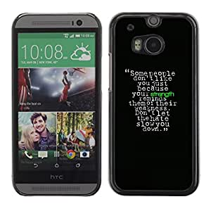 LECELL -- Funda protectora / Cubierta / Piel For HTC One M8 -- Motivational Strength Message --