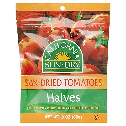 California Sun Dry Sun Dried Tomatoes Halves Bag 3.0 OZ(Pack of 2)
