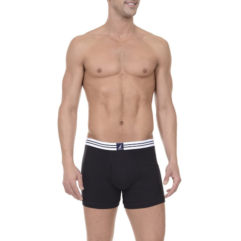 Nautica New Mens 3-Pack Boxer Brief 100% Cotton