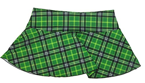 (Delicate Illusions Plus Size School Girl Plaid Mini Skirt 1X (14-16) Green)