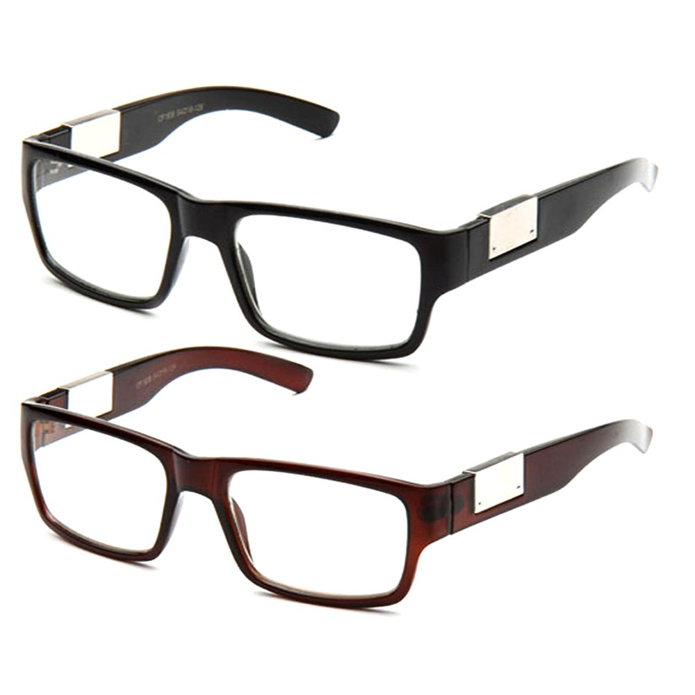 69b5275f8b Newbee fashion casual nerd thick clear frames fashion glasses rectangular clear  lens eye glasses clothing jpg