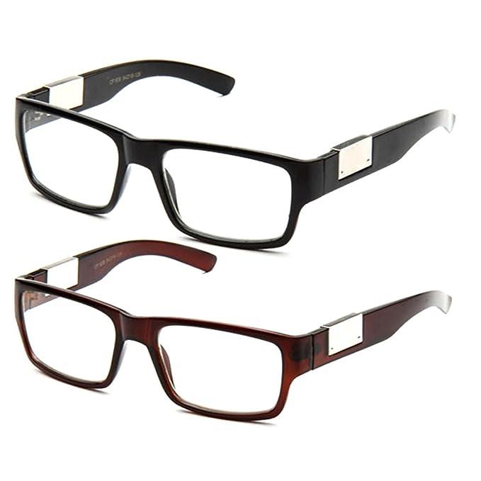 5e4618b12c09 Amazon.com  Newbee Fashion- Casual Nerd Thick Clear Frames Fashion ...
