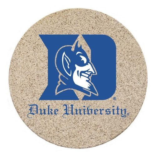(Thirstystone Natural Sandstone Set of 4 Coasters Duke University)