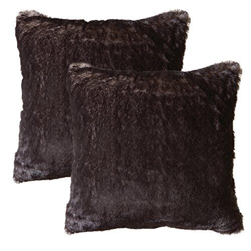 (Faux Fur Throw Pillow 2-Pack 18