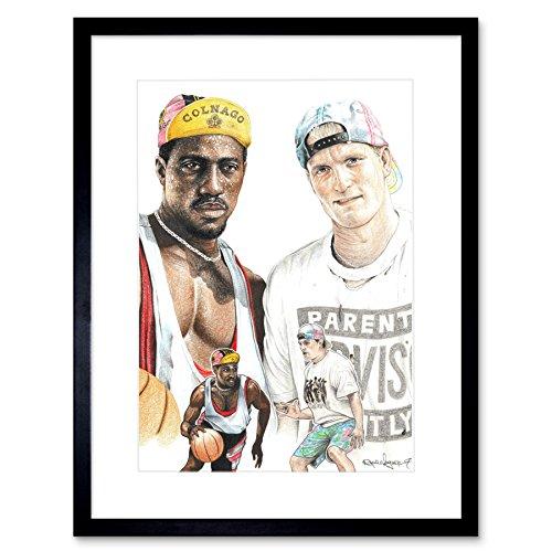 Wee Blue Coo Wayne Maguire Tattooed White Men Can't Jump Inked Ikon Framed Art Print