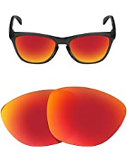 HEYDEFOAU Polarized Replacement Lenses for Oakley Frogskins Sunglasses-Multi Options with Lens Cloth