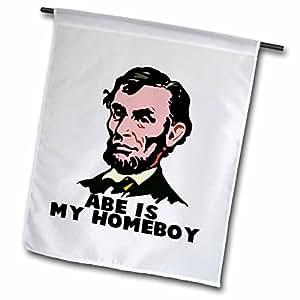 3dRose fl _ 102594_ 1Abe Lincoln es mi Homeboy bandera de Jardín, 12por 18pulgadas