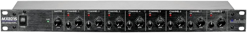 ART MX821S Rackmount Mic/Line Mixer by ART (Image #1)