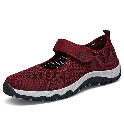 レディース メッシュシューズ ウオーキングシューズ JOYTO ナースシューズ エアクッション付き お母さん 婦人靴 スボーツ スニーカー カジュア 超軽量 作業靴 疲れにくい 安全靴 マジーク