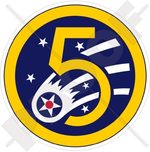 - United States USAF 5th AF PACAF, USAAF Fifth AirForce Emblem WWII, US American 3,2