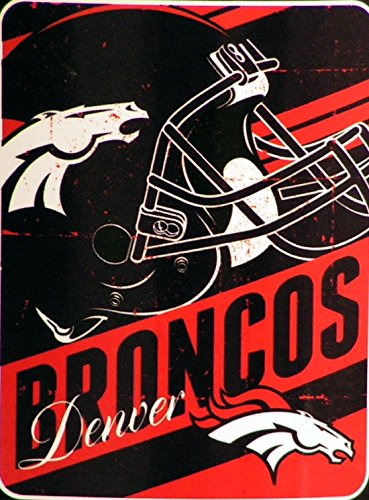 "The Northwest Company Officially Licensed NFL Denver Broncos Deep Slant Micro Raschel Throw Blanket, 46"" x 60"""