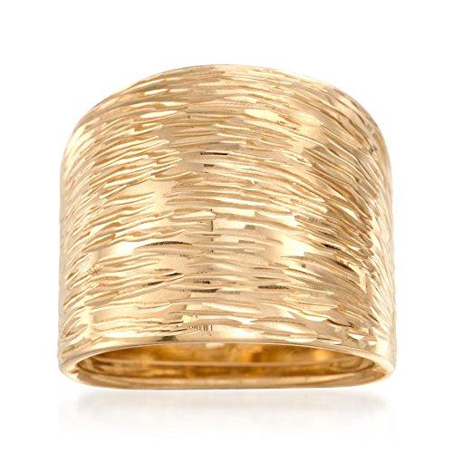 Ross-Simons Italian 14kt Yellow Gold Diamond-Cut Dome Ring