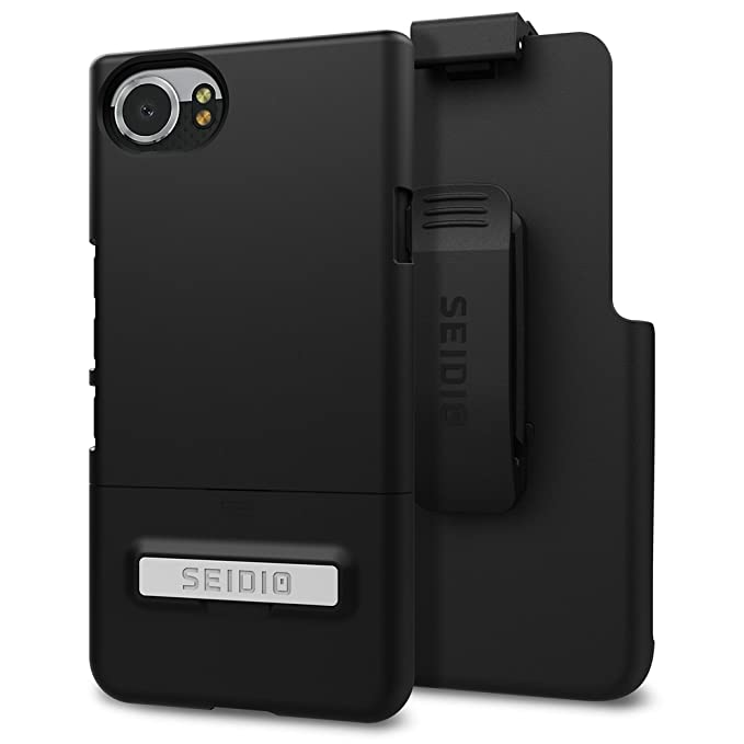 new concept 7ab40 e8e44 Seidio Surface with Kickstand Case and Holster Combo for BlackBerry KEYOne  (Black/Black)