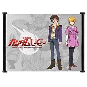 "Gundam Unicorn Anime Fabric Wall Scroll Poster (21"" x 16"") Inches"