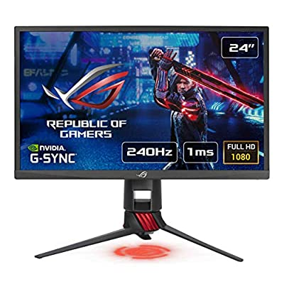 "ASUS - Monitor Gaming de 23.8"" FHD (1920x1080, TN, 16:9, 1ms, 240Hz, HDMI 2.0 x2, DisplayPort 1.2, Adaptive-Sync, G-Sync Compatible, ELMB, Flicker-Free, Ajustable en Altura y Giro), Negro 1"