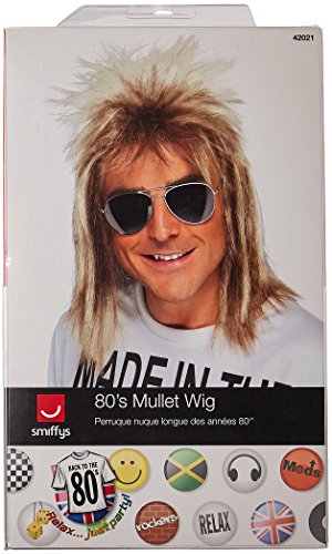 Smiffy's Men's 80's Blonde Mullet Wig, One Size, 5020570420218