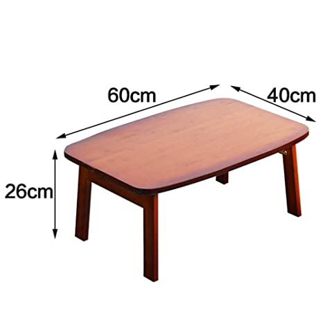 Amazon.com: Xiaoyan Mesa de bambú para mesa, mesa plegable ...