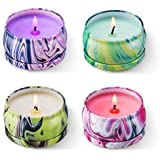 HITHYS Soy Wax Aromatherapy Scented Candles Gift Set Lavender Vanilla Eucalyptus & Rosemary, Really Natural Fragrance Essenti