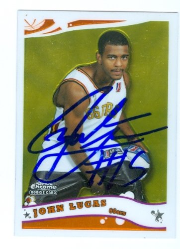 Lucas Autographed Basketball (Autograph Warehouse 78215 John Lucas Autographed Basketball Card Oklahoma St. 2006 Topps Chrome Rookie No .264)
