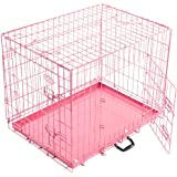 Easipet Dog Cage, 24-inch, Pink