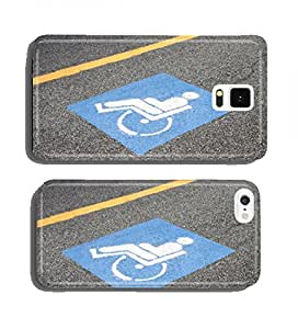 Symbol of the handicapped person painted on the asphalt cell phone cover case Apple iPhone 4