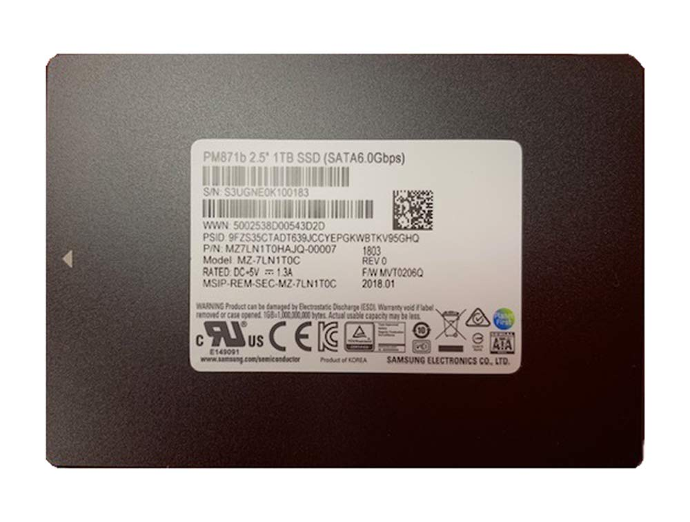 Samsung 1TB SSD SATA III Solid State Drive 7mm 2.5'' PM871b TLC MZ7LN1T0HAJQ