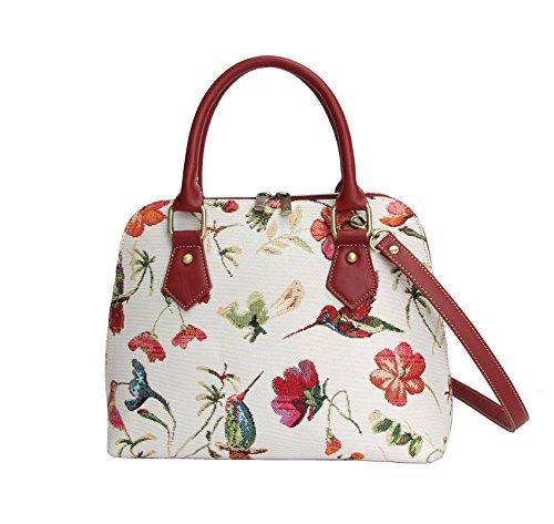 Signare-Tapestry-Handbag-Satchel-Bag-Shoulder-bag-and-Crossbody-Bag-and-Purse-for-women-with-Hummingbird-and-Flower-Design-CONV-HUMM