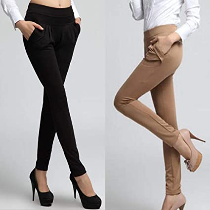 Size XL FAIYIWO Womens Fashion Casual Wear Black Pants FAIYIWO Black