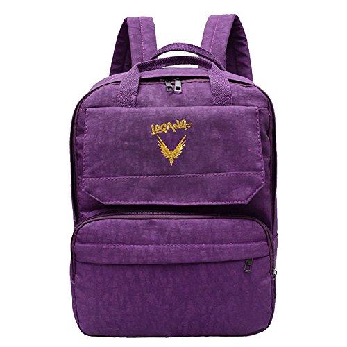 Backpack Bag Women's Oxford Jack Fashion Logo Gold Paul Purple Logang Shoulder 4wUx8RAw