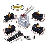 Jinwen 120034 Tooling Package Mini Lathe Quick Change Tool Post & Holders Multifid Tool Holder