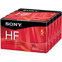 Sony 5C90HFR 90-Minute HF Cassette Recorders 5-Brick