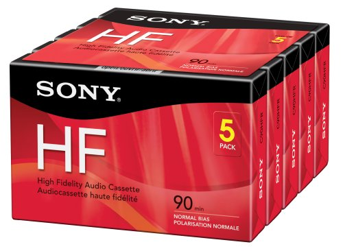 (Sony 5C90HFR 90-Minute HF Cassette Recorders 5-Brick)