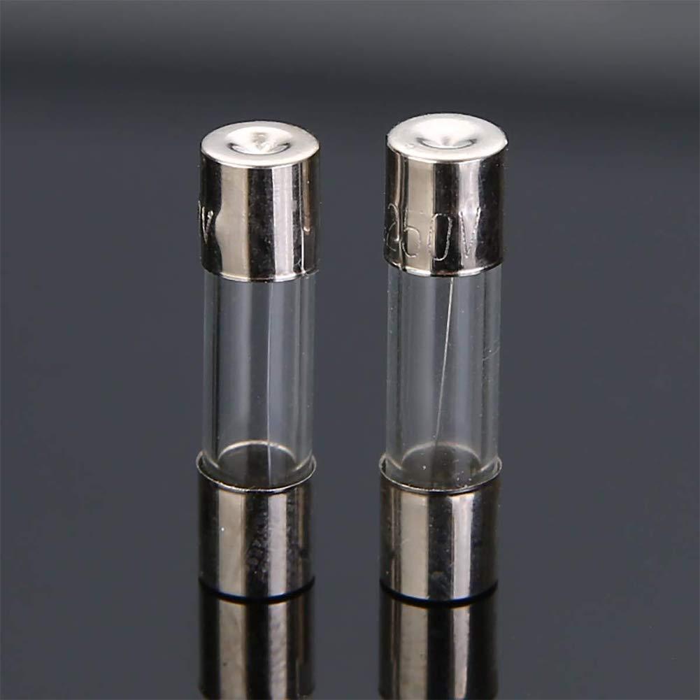 Mingmeng86 Alta calidad 100 piezas 5x20 MM Fusible de vidrio Fusil de incandescencia r/ápido Juego de surtido de fusibles 0.2A 0.5A 1A 2A 3A 5A 6A 8A 10A15A
