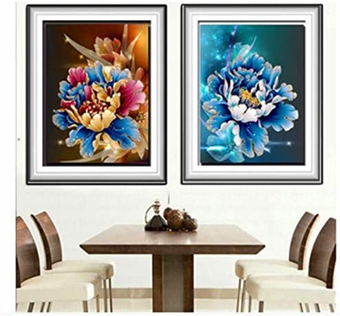 XIAOYV cb Diamant 5d Esmalte Azul peonía Portal de Flores Pintado salón Dormitorio: Amazon.es: Juguetes y juegos