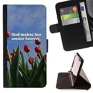 Momo Phone Case / Flip Funda de Cuero Case Cover - BIBLIA Dios hace Su Secure Forever - Salmo 48: 8; - Samsung Galaxy Note 4 IV