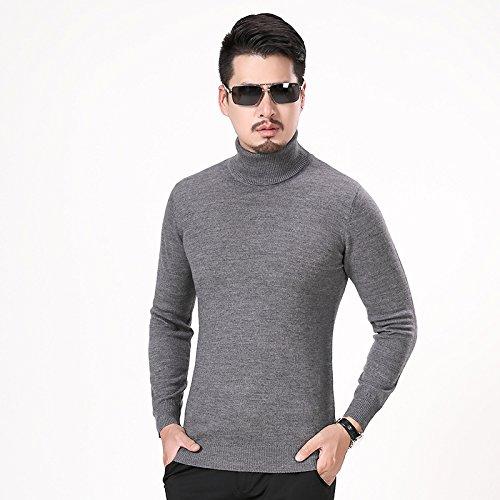 Jdfosvm männer - Hemd und Pullover Kragen ärmel Kopf männlichen langärmelige Pullover schlanke männer Mode,Flache nahen Asche,XL