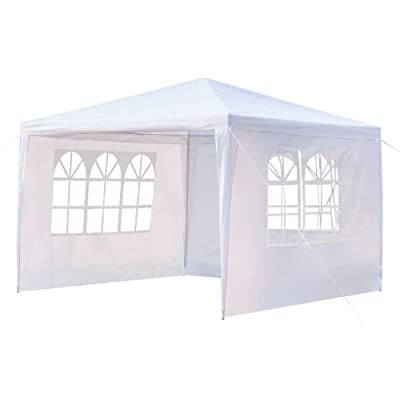 "XGZ Outdoor Party Wedding Canopy Tent 10""x 10"" Heavy Duty Party Sun Protection Tents BBQ Shelter Removable Sidewalls Waterproof Gazebo Tents : Garden & Outdoor"