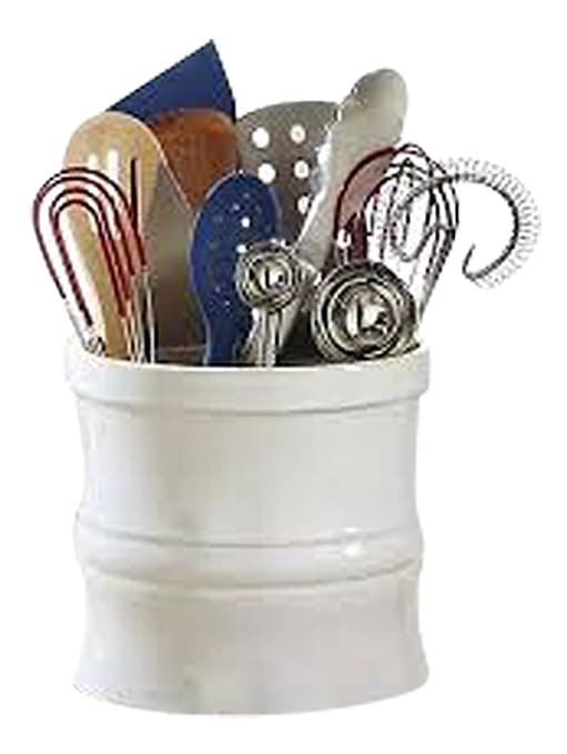 CHEFS Kitchen Tool Crock, White