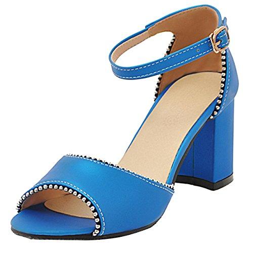 Femme Bride JYshoes Cheville JYshoes Bleu Bride Y6Sq11