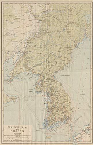 Map Of Asia Korean Peninsula.Amazon Com Manchuria And Chosen The Korean Peninsula North