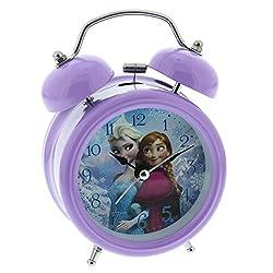 Disney Frozen Elsa Anna Children's Alarm Clock, Metal, Multicoloured, 90x 110mm