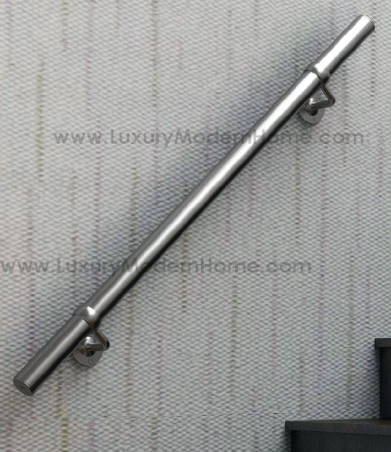 sshr1 Brushed Satin Stainless Steel 304 Handrail Connectable - 1 meter 39'' inches Railing Guardrail Tube Baluster Stair Staircase by www.LuxuryModernHome.com (Image #4)