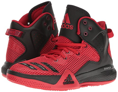 Pictures of adidas Kids' DT Bball Mid J Skate Shoe Black/White M US Big Kid 4
