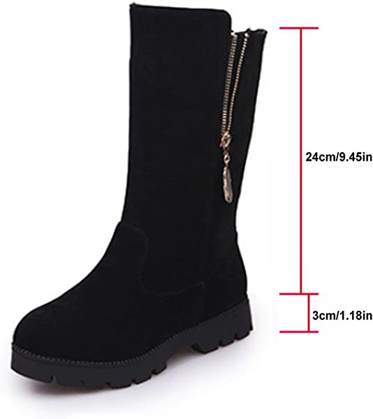 4f34621e78c Ladies Women Boots Ankle Leather Under Knee Casual Boots Size UK 5 6 7 8  Zip Stretch Extra Wide Mid Calf Black Grey. Back. Double-tap to zoom