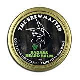 Badass Beard Care Beard Balm For Men - The Brewmaster Scent, 2 oz - All Natural Ingredients, Keeps Beard and Mustache Full, Soft and Healthy, Reduce Itchy and Flaky Skin, Promote Healthy Growth