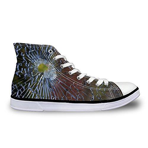 Voor U Ontwerpt Geweldig Comfort Platte Hoge Top Loafers Sneakers Lace Up Canvas Schoenen Voor Dames En Heren Bruin