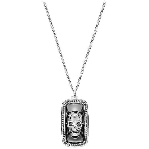 Swarovski black jet hematite crystal mens necklace fran skull swarovski black jet hematite crystal mens necklace fran skull pendant large 5236090 mozeypictures Images
